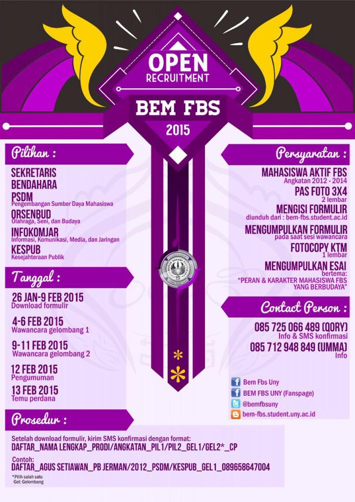 Tanggal Penting OPREC BEM FBS 2015